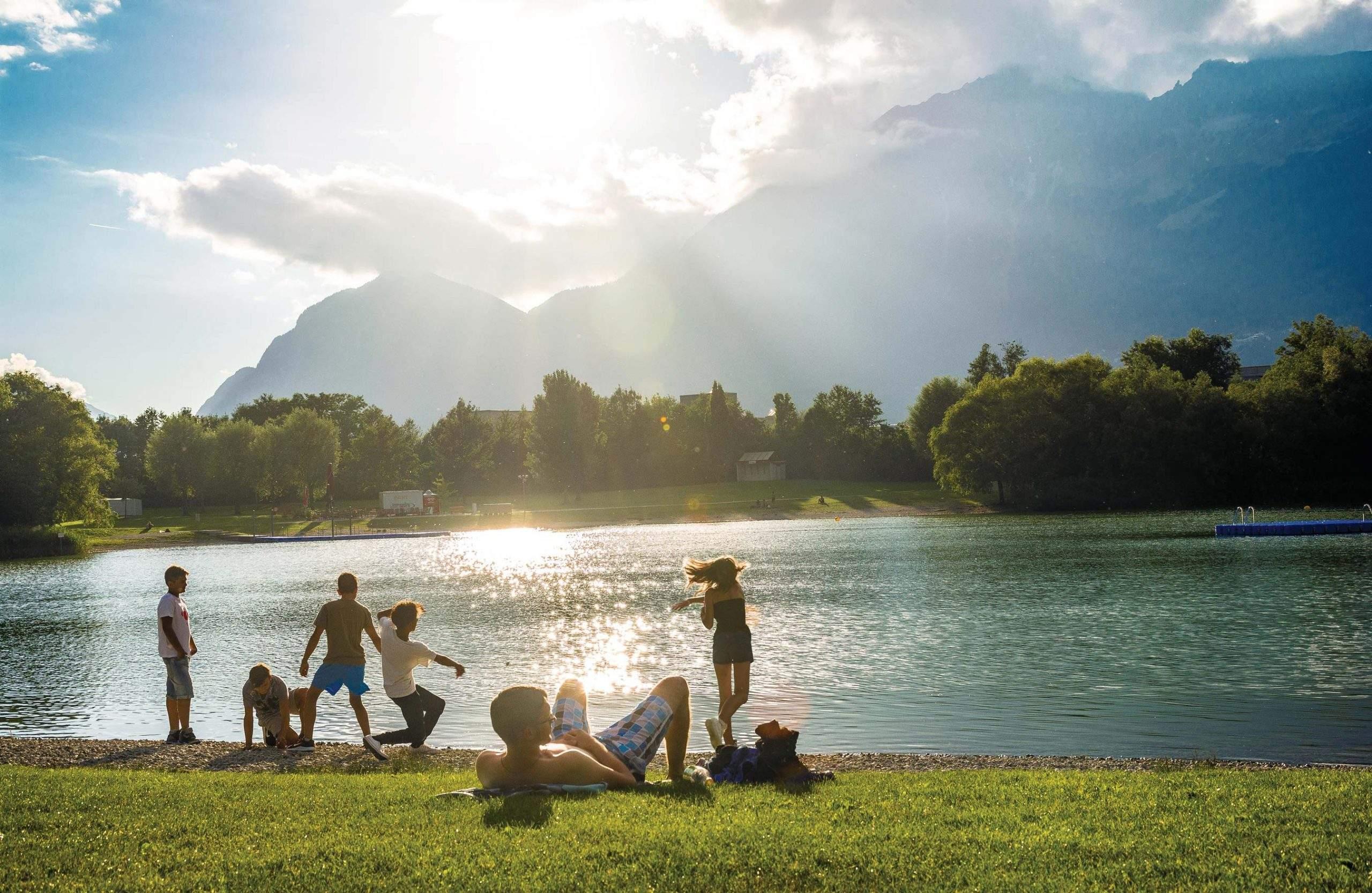 Schwimmen Innsbruck Sommer Tirol, Baggersee