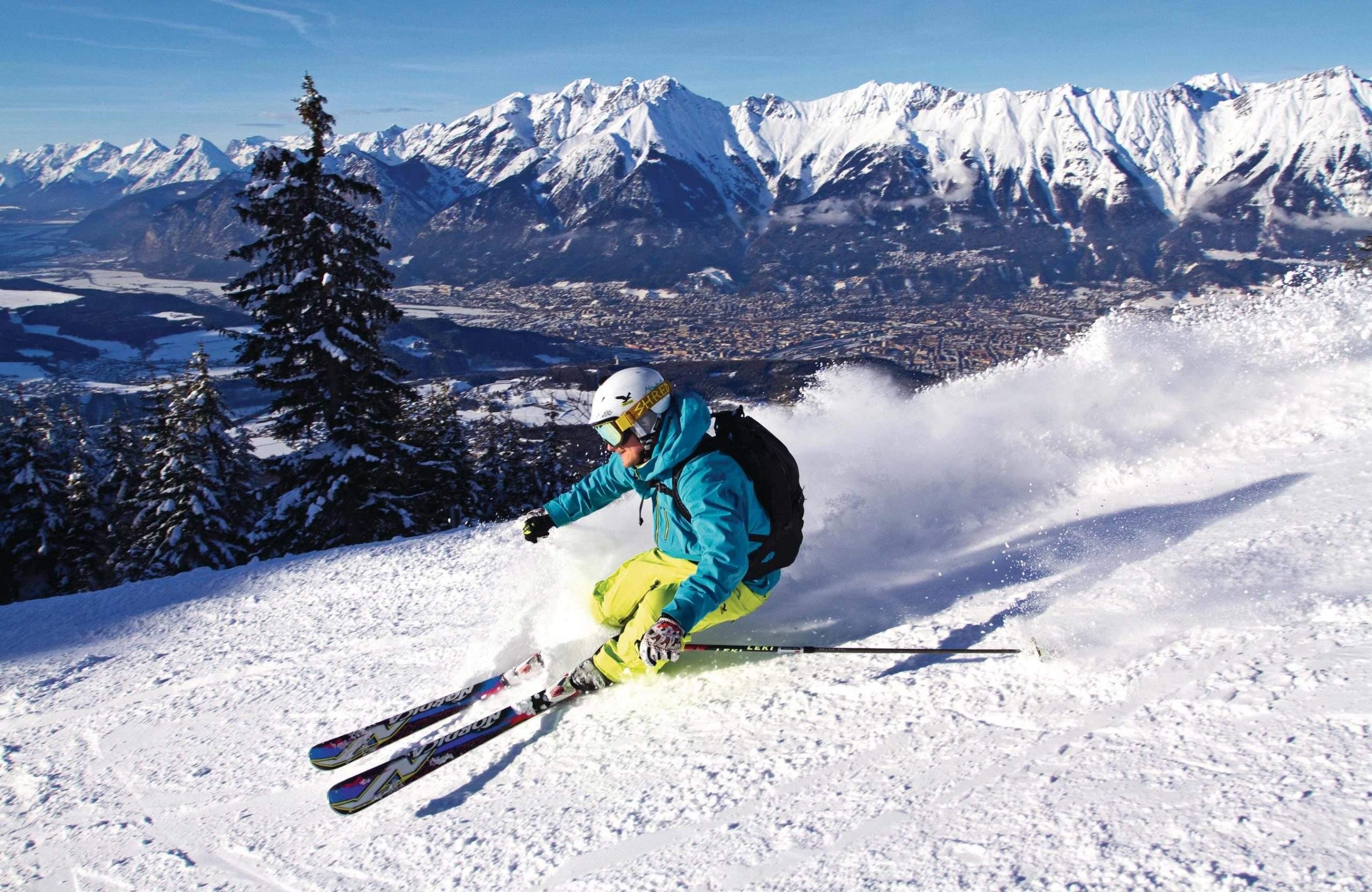Skiing in Innsbruck living at the Absteige
