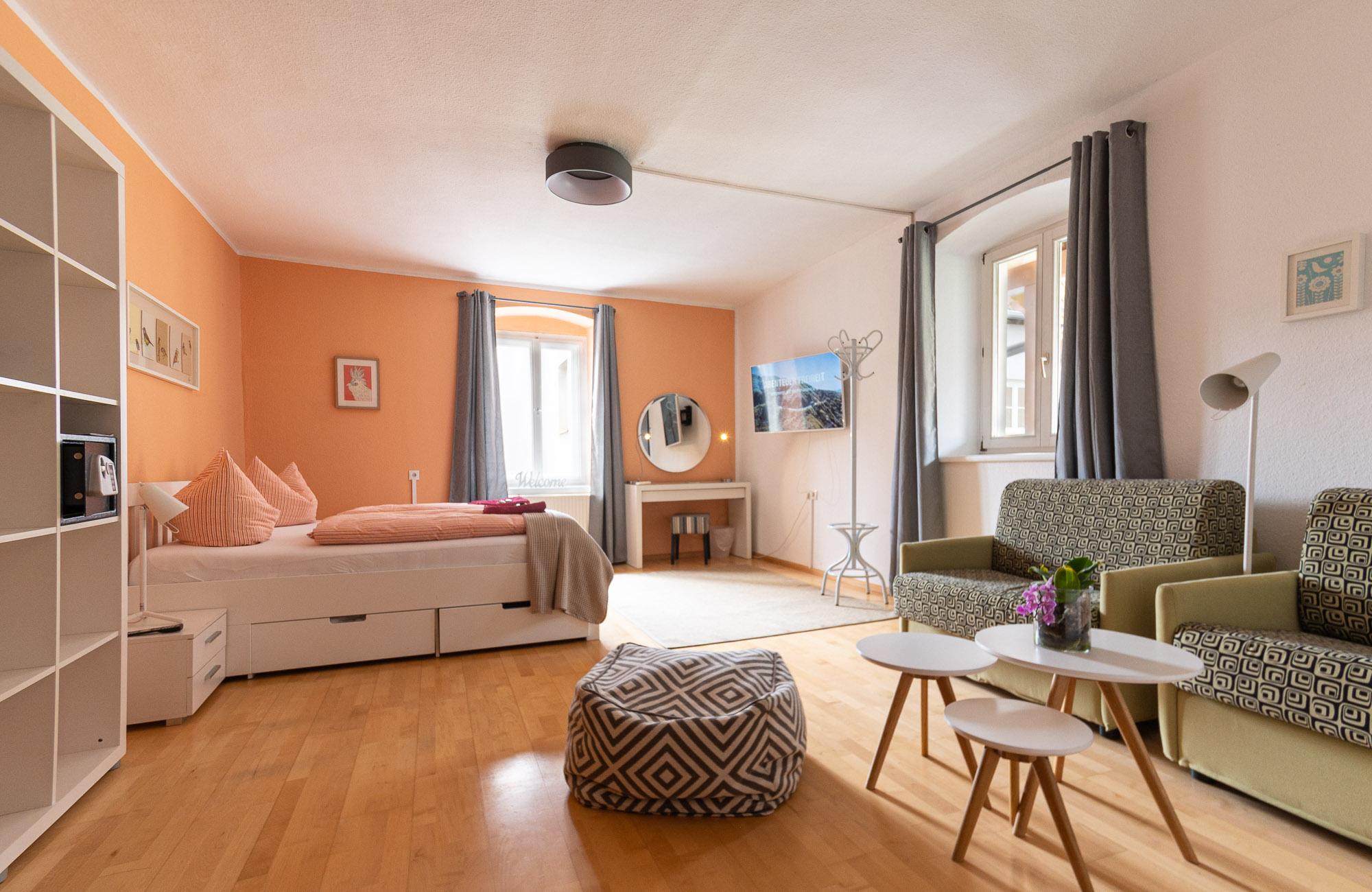 Absteige Innsbruck, Ferienapartment, Schlafzimmer