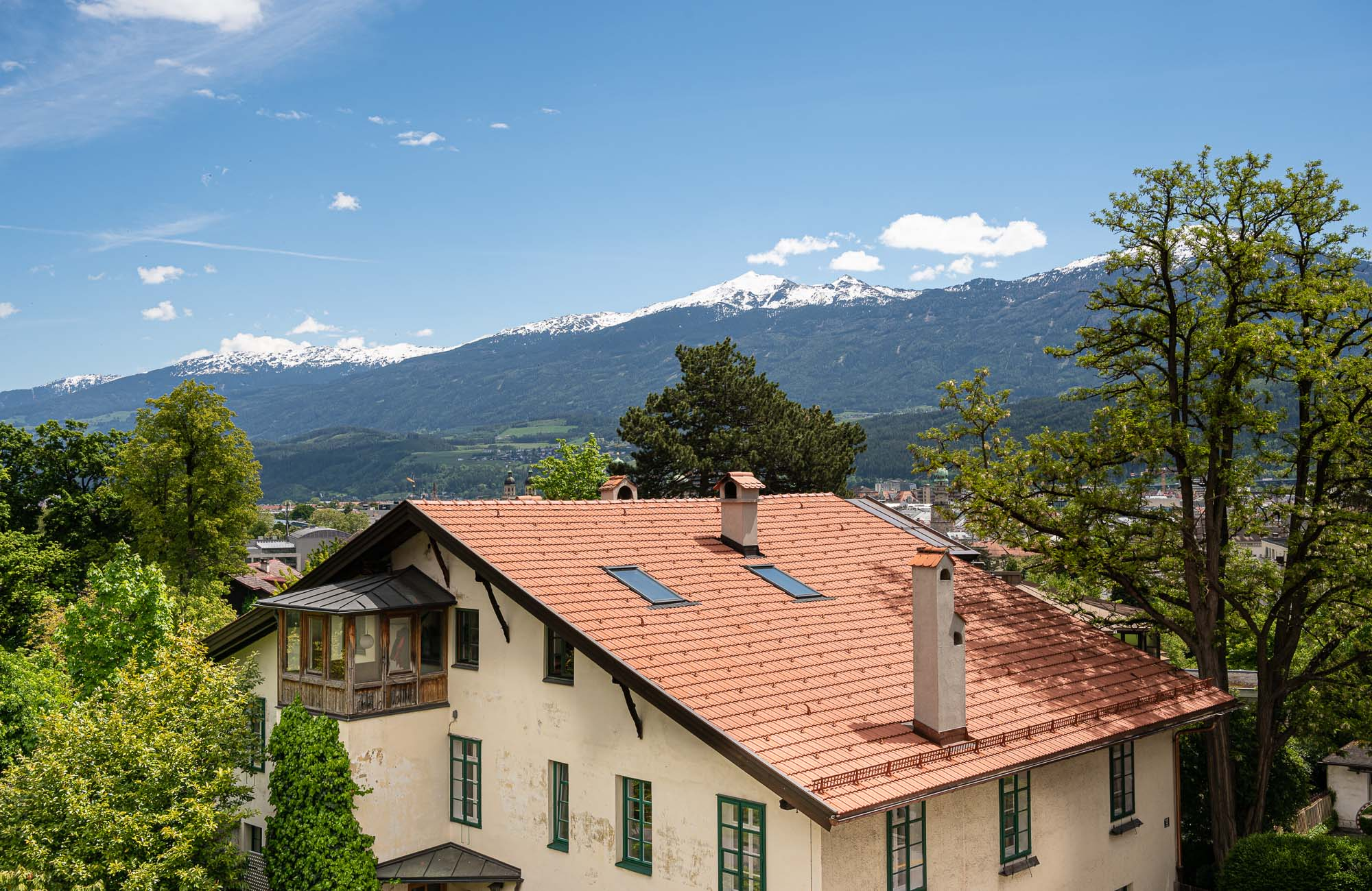 Absteige Innsbruck, Sommerurlaub, Aussicht