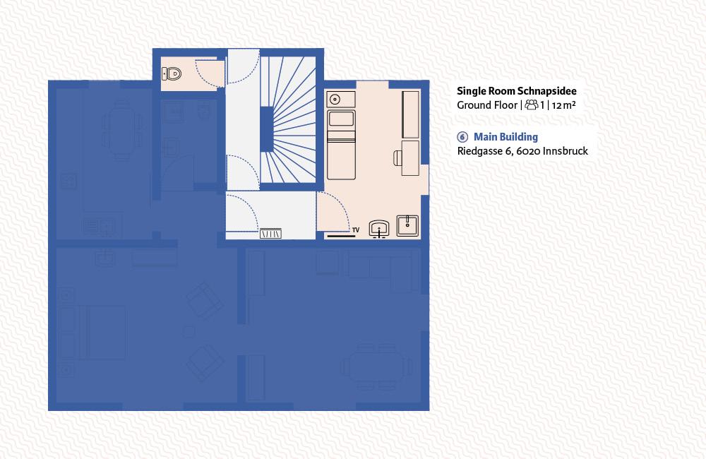 Absteige Innsbruck, Einzelzimmer